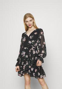 Gina Tricot - JULIANNA WRAP DRESS - Cocktailkleid/festliches Kleid - dark blue