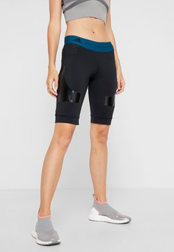 adidas by Stella McCartney - SPORT WORKOUT SHORTS LEGGINGS 1/2 - Tights - black