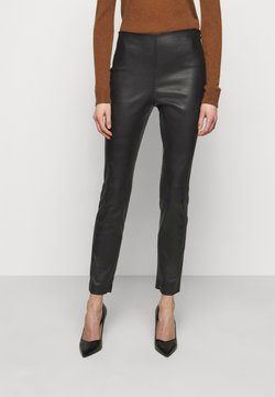 Theory - Pantalon en cuir - black