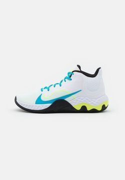 Nike Performance - RENEW ELEVATE - Zapatillas de baloncesto - white/light blue fury/black/volt