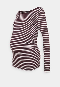 New Look Maternity - STRIPE - Camiseta de manga larga - red