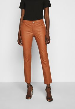 2nd Day - LEYA - Leather trousers - mocha bisque