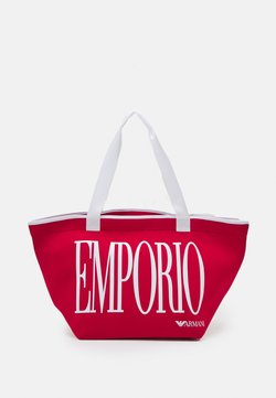 Emporio Armani - SHOPPING BAG BEACH - Beach accessory - rosso red