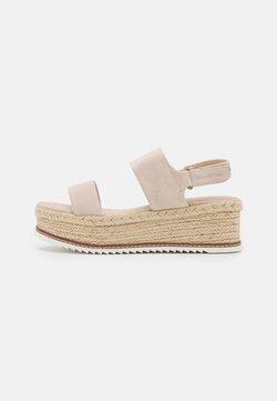 Marc O'Polo - TROPEZ  - Korkeakorkoiset sandaalit - sand