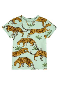 The Striped Cat - LEOPARD - T-shirt imprimé - green mist