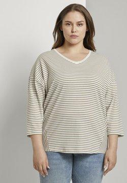 MY TRUE ME TOM TAILOR - Langarmshirt - khaki ecru horizontal stripe