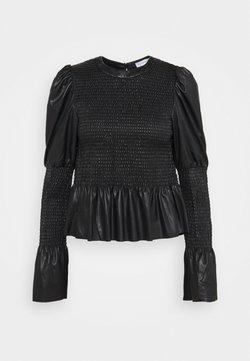 Topshop - SHIRRED - Langarmshirt - black