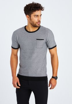 Leif Nelson - T-Shirt print - schwarz ecruweiß