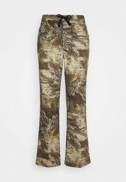 HUF - LINCOLN - Flared Jeans - khaki