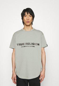 True Religion - CREWNECK - Printtipaita - shadow green