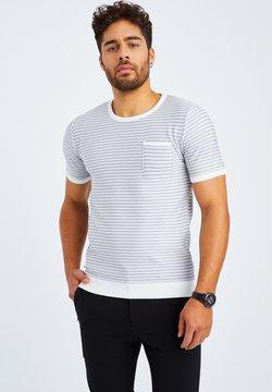 Leif Nelson - T-Shirt print - ecruweiß hellgrau
