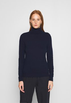 Benetton - TURTLE NECK - Strikkegenser - navy
