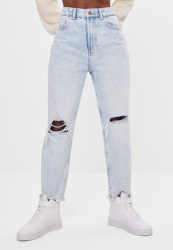 Bershka - Jeansy Straight Leg - blue denim