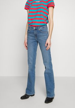 Wrangler - Jeans bootcut - canary blue