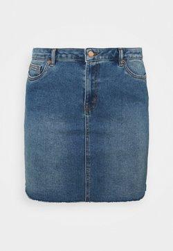 Vero Moda Curve - VMFAITH SHORT SKIRT MIX - Minirock - medium blue denim