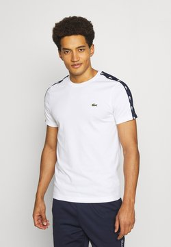 Lacoste Sport - Camiseta estampada - white/navy blue