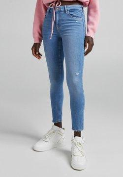Bershka - PUSH UP - Jeans Skinny Fit - dark blue