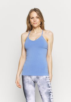 Sweaty Betty - MINDFUL SEAMLESS YOGA VEST  - Top - cornflower blue