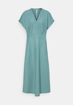 Esprit Collection - WRAP DRESS - Vestido largo - dark turquoise