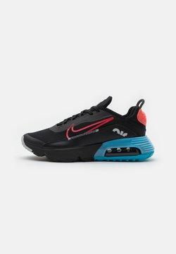 Nike Sportswear - AIR MAX2090 UNISEX - Sneakersy niskie - black/fusion red/light blue fury/grey fog