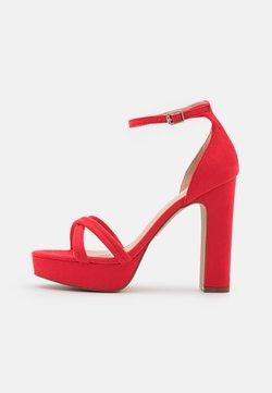 Even&Odd - Sandalen met plateauzool - red