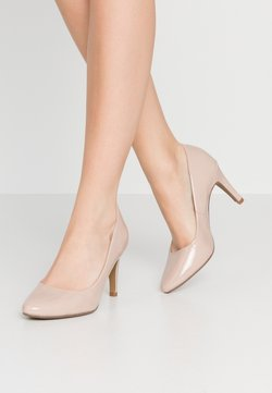 Dorothy Perkins - DEEDEE TOECOMFORT COURT - Zapatos altos - nude