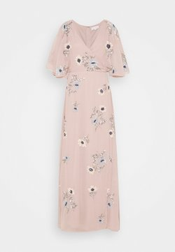 Maya Deluxe - KIMONO FLORAL EMBELLISHED WRAP DRESS - Robe longue - frosted pink