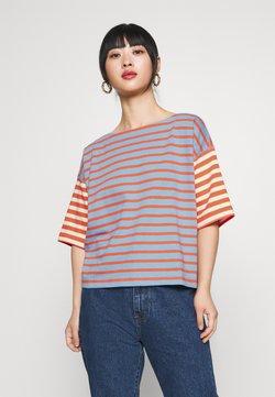 GAP Petite - MARINER TEE - T-Shirt print - cherry/navy