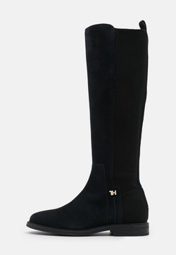 Tommy Hilfiger - ESSENTIAL FLAT LONG BOOT - Stiefel - desert sky