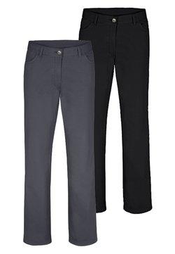 Jan Vanderstorm - TEJA 2 PACK  - Pantalon classique - black/grey