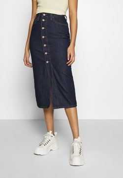 Levi's® - BUTTON FRONT MIDI SKIRT - Falda de tubo - juniper ridge