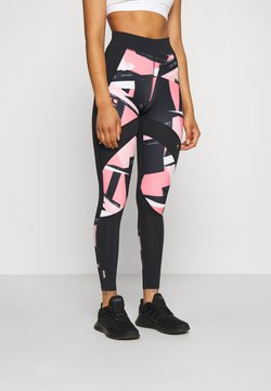 ONLY PLAY Tall - ONPMINALIS TRAINING TIGHTS - Legging - black/strawberry pink