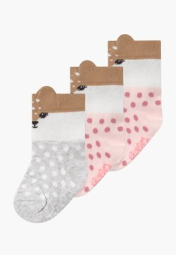 Ewers - LITTLE FAWN 3 PACK - Calcetines - rosé/grau