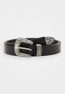 Zign - Unisex leather Belt - Ceinture - black