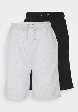 Missguided Tall - CASUAL PLAIN 2 PACK  - Shorts - black/grey