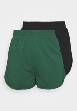 Missguided - RUNNER 2 PACK - Jogginghose - black/green