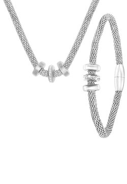 Lucardi - SET - Ketting - zilver