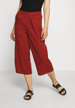ONLY - ONLCARISA BIBS CULOTTE PANT  - Stoffhose - burnt henna