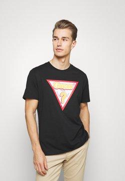 Guess - STICKY - T-shirt z nadrukiem - jet black
