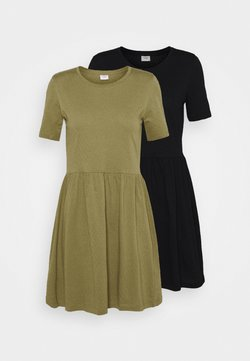JDY - JDYPASTEL LIFE DRESS 2 PACK  - Vestido ligero - black/martini olive
