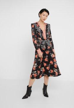 Pinko - AQUAMAN DRESS FIORE GIAPPO - Vestido de cóctel - nero/bianco/rosso