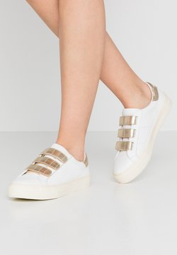 No Name - ARCADE STRAPS - Sneakers laag - white/gold