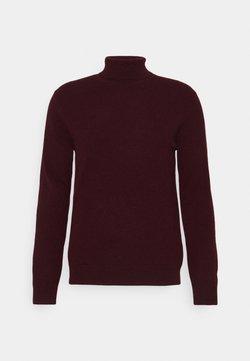 pure cashmere - MEN TURTLENECK  - Strickpullover - burgundy