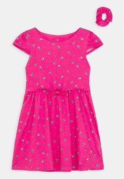 Lemon Beret - SMALL GIRLS DRESS SCRUNCHIE - Jerseykleid - fuchsia rose