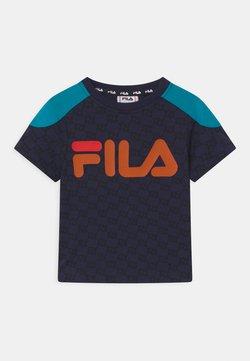 Fila - ELIA  - Printtipaita - black iris/capri breeze
