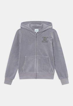 Juicy Couture - ZIP THROUGH HOODIE - Vetoketjullinen college - dapple gray