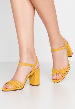 Anna Field - LEATHER - Sandales à talons hauts - yellow