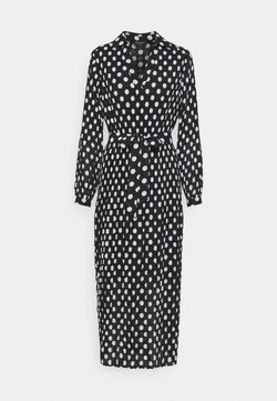 Selected Femme - SLFLADY POPPY MIDI DRESS - Freizeitkleid - black/white