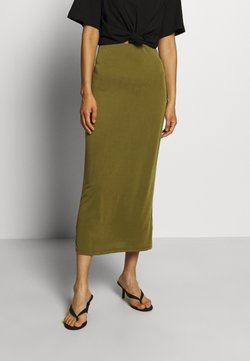 Who What Wear - SKIRT - Jupe crayon - moss