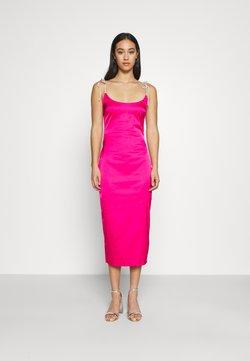 Missguided - DIAMANTEN LOOK TIE STRAP DRESS - Cocktailkleid/festliches Kleid - hot pink